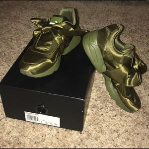 Olive Puma Fenty Bow Sneakers